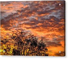 Fiery Sunrise Over County Clare Acrylic Print
