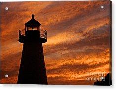 Fiery Sunset Acrylic Print by Amazing Jules