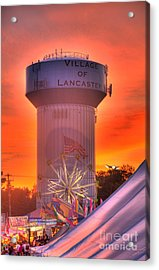 Fiery Sunset Acrylic Print