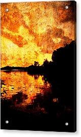 Fiery Sunset Acrylic Print by Randi Kuhne