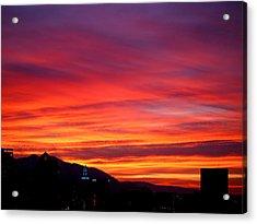 Fiery Sunset Acrylic Print by Rona Black