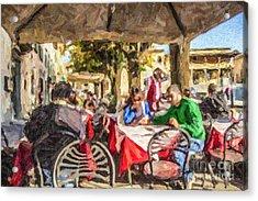 Fiesole Al Fresco Acrylic Print by Liz Leyden