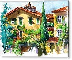 Fiesole Villa Acrylic Print by Art Scholz