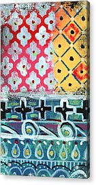 Fiesta 6- Colorful Pattern Painting Acrylic Print