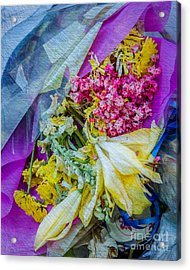 Fiesta In Blue Acrylic Print by Susan Cole Kelly Impressions