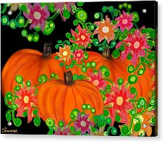 Fiesta Pumpkins Acrylic Print