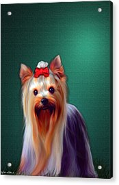 Acrylic Print featuring the painting Fifi by Tyler Robbins