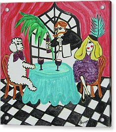 Acrylic Print featuring the painting Fifi's Night Out by Diane Pape