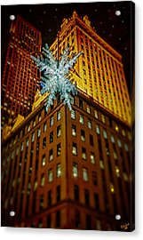 Acrylic Print featuring the photograph Fifth Avenue Holiday Star by Chris Lord