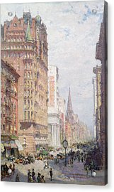 Fifth Avenue New York City 1906 Acrylic Print by Colin Campbell Cooper