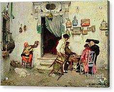 Figaro's Shop Acrylic Print by Jose Jimenes Aranda