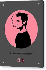 Fight Club Poster 1 Acrylic Print by Naxart Studio