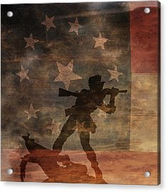 Fight To The Death Silhouette Three Of Three Acrylic Print by Randy Steele