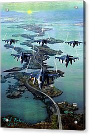 Fighter Jet Squadron  Acrylic Print by Michael Rucker