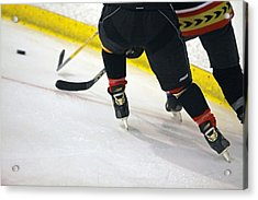 Fighting For The Puck Acrylic Print by Shoal Hollingsworth