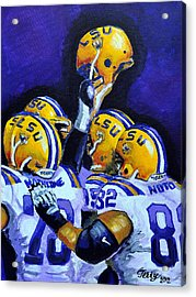 Fighting Tigers Of Lsu Acrylic Print by Terry J Marks Sr