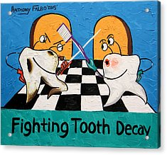 Fighting Tooth Decay Acrylic Print by Anthony Falbo