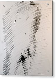 Figure 13 Male Nude Study Acrylic Print by Craig  Bruce