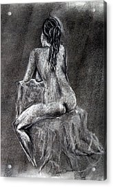 Figure Drawing 2 Acrylic Print by Corina Bishop