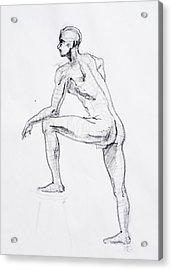 Figure Drawing Study II Acrylic Print