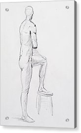 Figure Drawing Study Iv Acrylic Print