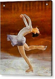 Figure Skating Acrylic Print by Elizabeth Coats