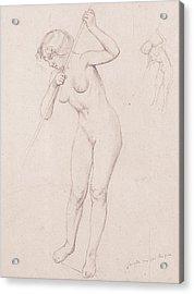 Figure Study For 'the Slaying Of Orpheus'  Acrylic Print