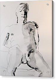 Figure11 Male Nude Study Acrylic Print by Craig  Bruce