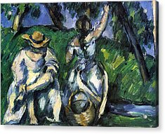 Figures By Cezanne Acrylic Print by John Peter