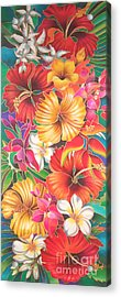 Fiji Flowers IIi Acrylic Print