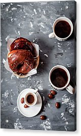 Fika Time - Chocolate And Coffee Acrylic Print by Copyrighted To Asha Pagdiwalla