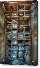 File Date Storage Acrylic Print