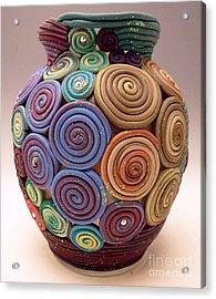Filigree Vase Acrylic Print