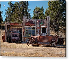 Fill Er Up Acrylic Print by Leland D Howard