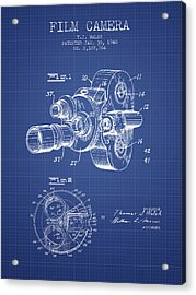 Film Camera Patent From 1940 - Blueprint Acrylic Print by Aged Pixel