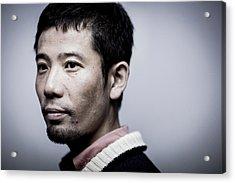Film Director Shuhei Morita Portrait Acrylic Print by Chris Mcgrath