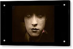 Film Homage Billy Bitzer Miriam Cooper Intolerance 1916 Screen Capture Color Added 2012 Acrylic Print by David Lee Guss