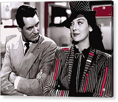 Film Homage Cary Grant Rosalind Russell Howard Hawks His Girl Friday 1940-2008 Acrylic Print
