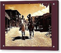 Film Homage Mark Slade Cameron Mitchell Riding Horses The High Chaparral Old Tucson Arizona Acrylic Print