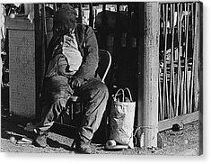 Film Noir Robert Mitchum Where Danger Lives 1950 El Bulla Nogales Sonora Mexico 1968 Acrylic Print by David Lee Guss