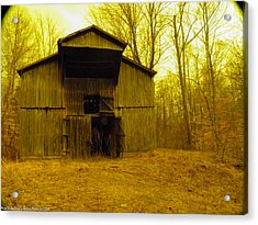 Acrylic Print featuring the photograph Filtered Barn by Nick Kirby