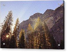 Morning Skies Of Yosemite Acrylic Print