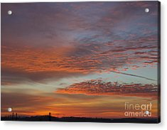 Final 2012 Sunrise Acrylic Print by Michael Waters