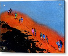 Final Push For The Summit Acrylic Print by Neil McBride