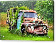 Final Resting Place - Ford Truck Acrylic Print by Bill Cannon