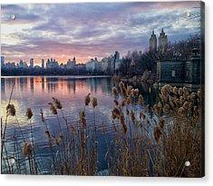 Final Sunset Of 2011 Acrylic Print by Cornelis Verwaal