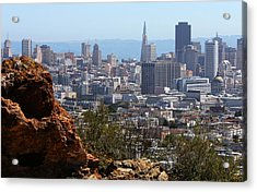 Financial District From Corona Heights Acrylic Print by Robert Woodward
