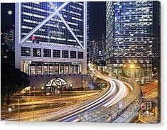 Financial District Of Hong Kong Acrylic Print