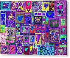 find U'r love found v4  Acrylic Print by Kenneth James