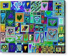 find U'r love found v7 Acrylic Print by Kenneth James